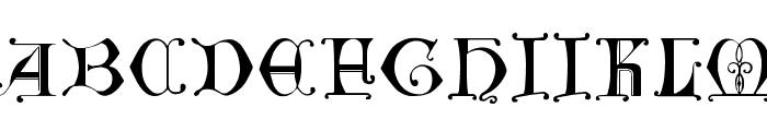 British Museum, 14th c. Font UPPERCASE