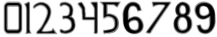 British Outline Majuscules Font OTHER CHARS
