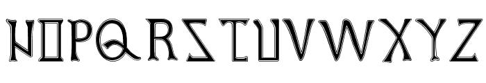 British Outline Majuscules Font UPPERCASE
