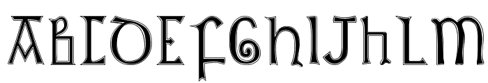 British Outline Majuscules Font LOWERCASE