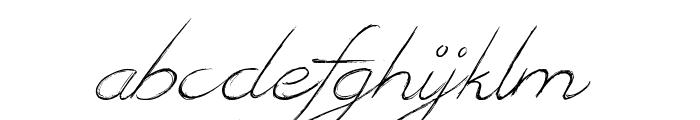 British Quest Font LOWERCASE