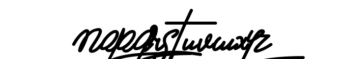 Brittanict Script Font LOWERCASE