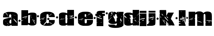 Britty Rock Font LOWERCASE