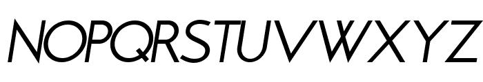 Brixton Book Oblique Font UPPERCASE