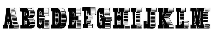 Broadcast Titling Font UPPERCASE