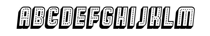 Broadway 3D Italic Font UPPERCASE
