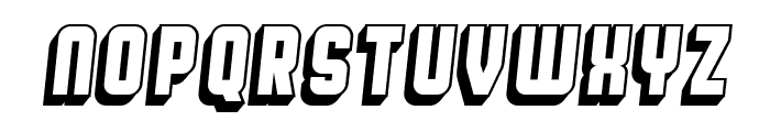 Broadway Flat 3D Italic Font UPPERCASE