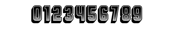 Broadway Gradient 3D Regular Font OTHER CHARS