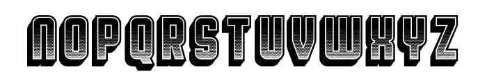 Broadway Gradient 3D Regular Font LOWERCASE