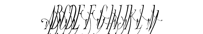 Broadway Monograms Plain Font UPPERCASE
