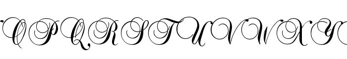 Brock Script Font UPPERCASE