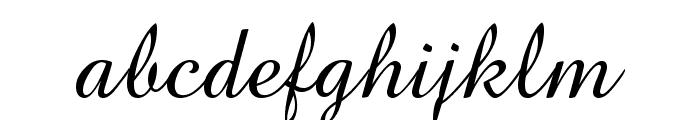 Brock Script Font LOWERCASE