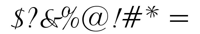 BrockScript Font OTHER CHARS