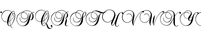 BrockScript Font UPPERCASE