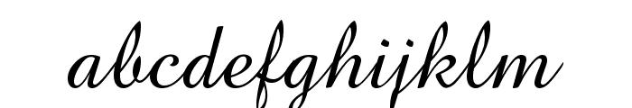 BrockScript Font LOWERCASE
