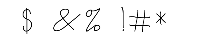 Broetown Signature Font OTHER CHARS