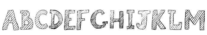 Broken Chalk Font UPPERCASE