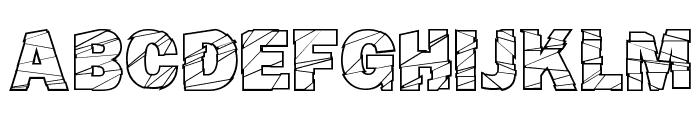 Broken Fluid Font LOWERCASE