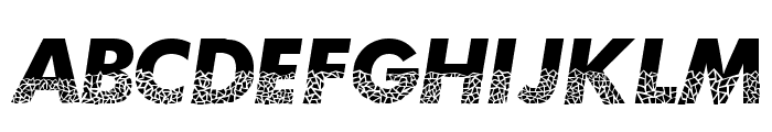 Broken Glass Font UPPERCASE