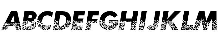 Broken Glass Font LOWERCASE