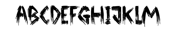 Broken Ground Font UPPERCASE