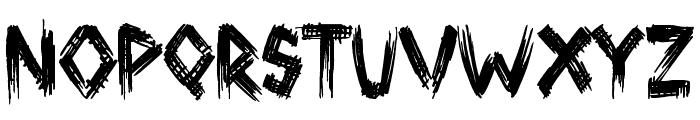 Broken Ground Font LOWERCASE