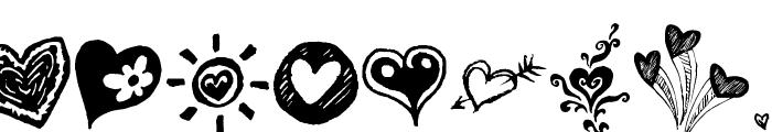 Broken Hearts Font UPPERCASE
