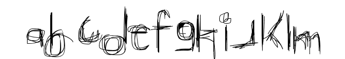 Broken Phone Nails Font LOWERCASE
