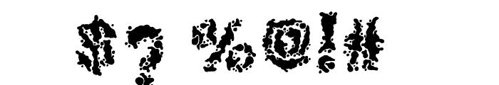 Broken Press Font OTHER CHARS