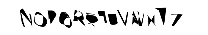 Broken ReverseOblique Font UPPERCASE