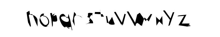 Broken ReverseOblique Font LOWERCASE