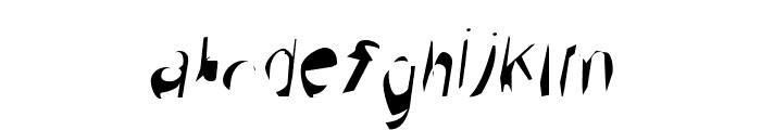 Broken Scanner Condensed Oblique Font LOWERCASE