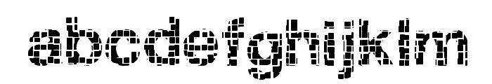 Broken Squares Font LOWERCASE
