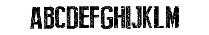 Broken Type Font UPPERCASE