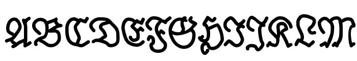 BrokenHand-Bold Font UPPERCASE