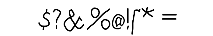 BrokenHand Font OTHER CHARS