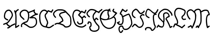BrokenHand Font UPPERCASE