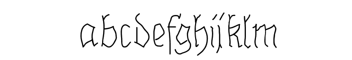 BrokenHandLight Font LOWERCASE