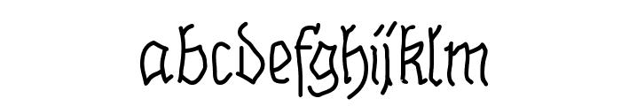 BrokenHand Font LOWERCASE