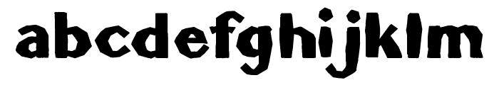 BrokenLinoCut Font LOWERCASE