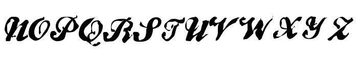 BrokenRecord Font UPPERCASE