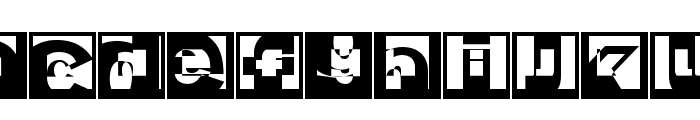 BrokenSansCaps Font LOWERCASE