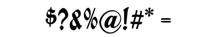 BrokenWoodtypes Font OTHER CHARS