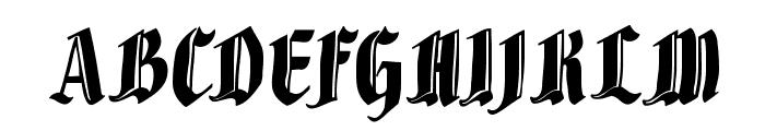 BrokenWoodtypes Font UPPERCASE