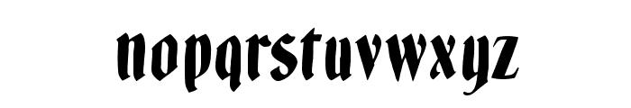 BrokenWoodtypes Font LOWERCASE