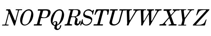 Brokgauz & Efron Italic Font UPPERCASE