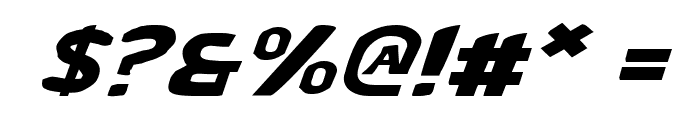 Bronic Expanded Italic Font OTHER CHARS