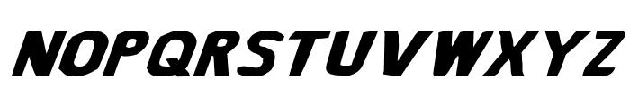 Bronic Expanded Italic Font UPPERCASE