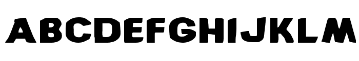 Bronic Expanded Font LOWERCASE