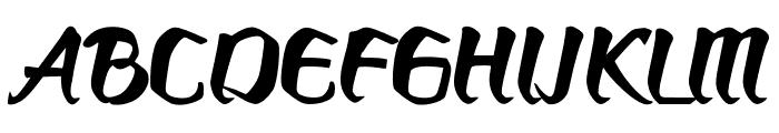 Bronkos Font UPPERCASE